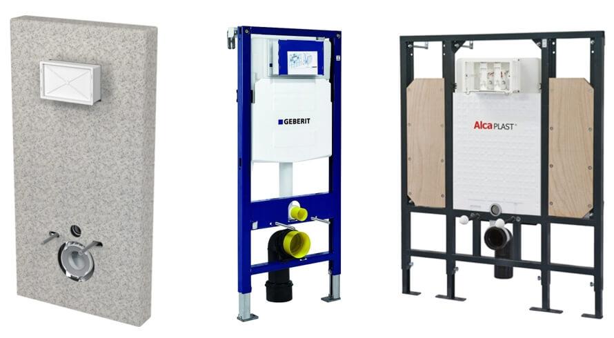 WC modul s krytem AlcaPlast , modul do sádrokartonu Geberit , Sádromodul AlcaPlast pro osoby se sníženou hybností
